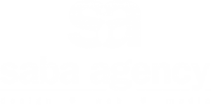 Saba Agency White Logo