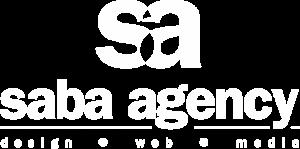 Saba Agency White Logo